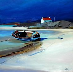 Scottish Artist Pam CARTER - Resting on the Shore