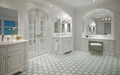 Finally, a bathroom with enough space! Extra spacious bathroom with double sinks and large vanity.