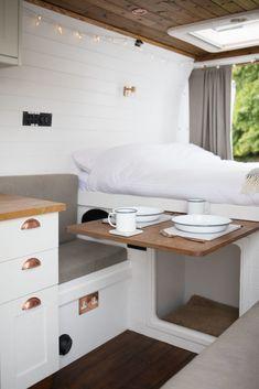 Caravan Makeover, Caravan Renovation, Van Conversion Interior, Camper Van Conversion Diy, Van Living, Tiny House Living, Build A Camper Van, Vanz, Van Home