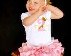 Parley Ray Custom Name and Number Vinyl Birthday Shirt Daddy's Princess
