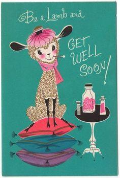 Vintage Greeting Card Get Well