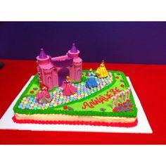 Annaliese's 5th Birthday. Disney Princess Cake