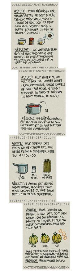 astuces cuisine : vinaigrette goût huile de noix sans noix (mais du curry) par exemple...