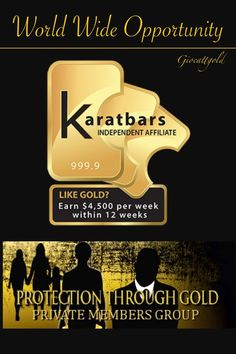 Join this GOLDEN opportunity Savings or affiliate program it´s up to you! Click: https://www.karatbars.com/landing/?s=kenneth50 and find out more about Karatbars.com