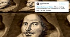 Fake Shakespeare Facts is the kind of fake news we can get on board with https://link.crwd.fr/3Ppk