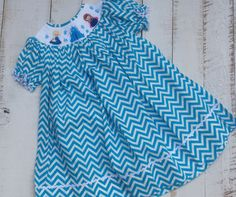 Smocked Elsa & Anna Bishop Dress, $29.99 FREE SHIPPING. facebook.com/SmockStars or Instagram @SmockStars
