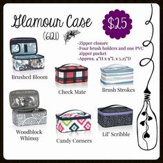Glamour Case, Thirty-One, Fall 2017 Thirty One Fall, Thirty One Party, Thirty One Gifts, Thirty One Organization, 31 Party, Thirty One Business, Thirty One Consultant, 31 Gifts, Career Inspiration