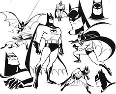 concept anime character designs | Batman the Animated Series design art