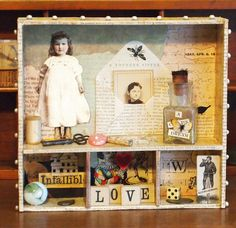 Assemblage Art Box Shadow Box For Display A by MarthasAttic, $54.00