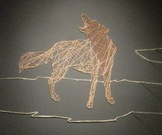 Reimagining nature through paper and string, Allyce Wood created a great installation in a corner of the gallery