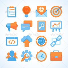 SEO Icons — JPG Image #target #time management • Available here → https://graphicriver.net/item/seo-icons/7686358?ref=pxcr