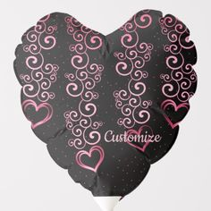 Shop Scrolling Hearts Pattern Heart Balloon created by BlueRose_Design. Helium Gas, Custom Balloons, Heart Balloons, Heart Patterns, Note Cards, Colorful Backgrounds, Centerpieces, Hearts, Valentines