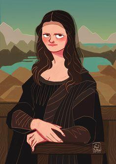 The Mysterious Smile of Mona Lisa by DixieLeota.deviantart.com on @DeviantArt