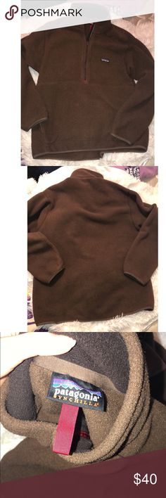 NWOT Men's Patagonia Synchilla Pullover Men's XL brown Patagonia. Bought for my stepdad but it was too big. Only tried on Patagonia Sweaters Zip Up