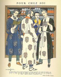 * Robes de chambre pour hommes par Marjac Illustration pour 'Monsieur' magazine, November 1921