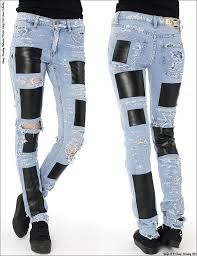 PATCHES ON JEANS -PATCHES CONTRASTE DE MATERIALES