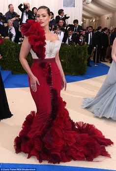 First time:Ashley Graham made her Met Gala debut in New York City on Monday