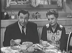Stuart Erwin with wife June Collyer in an episode of Trouble with Father