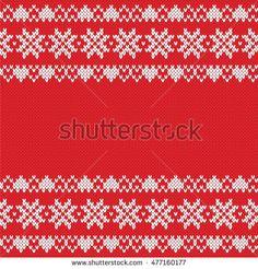 Festive Sweater Design. Seamless Knitted Pattern