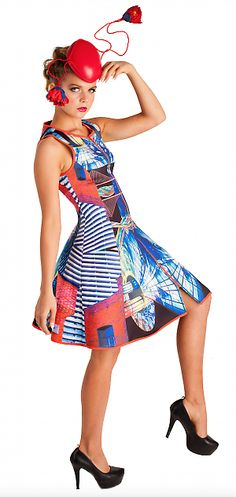 Flared Mirrored Windows | Mackenzie mode Spring Racing Carnival, Online Shopping Clothes, Peplum Dress, Branding Design, Windows, Brand New, Summer Dresses, Fashion Design, Vintage