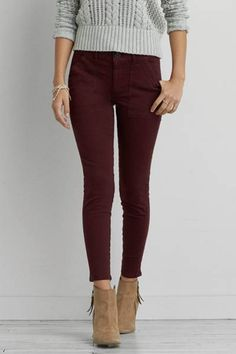 AEO Utility Jegging  by AEO | Our sexiest, skinniest fit. Keep your look at ease with this military-inspired jegging.  Shop the AEO Utility Jegging  and check out more at AE.com.