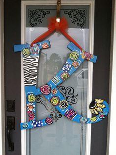 Initial door hanger $35  I'd buy this! Very nice!