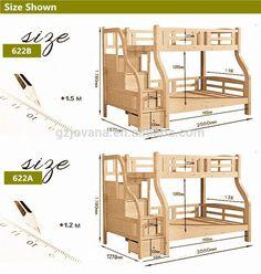 crianças cama de beliche cama de madeira maciça com gaveta