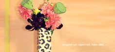 """Card & Vase """"Leopard"""" CNV004D"""