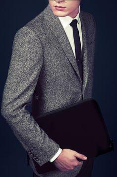 Ozwald Boateng   Grey wool suit