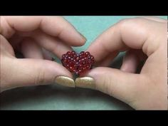 Puffy Beaded Heart Ring Tutorial Updated - YouTube