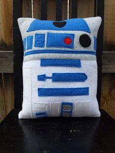 r2d2 star wars pillow cushion gift by telahmarie on Etsy