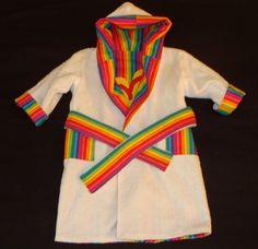 Reversible Hooded Girls Beach / Bath Robe Size 18 - 24 Months.