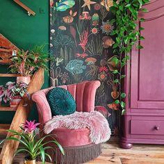 Home Interior Design — New Stylish Bohemian Home Décor - Eclectic Decor Bohemian Interior Design, Bohemian Decor, Home Interior Design, Modern Bohemian, Bohemian Style, Dark Bohemian, Boho Chic, Colorful Interior Design, Vintage Bohemian