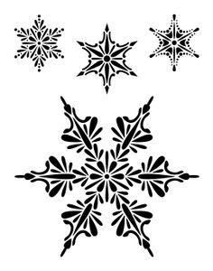 Downloadable Quilting Stencils | Snowflakes Stencils