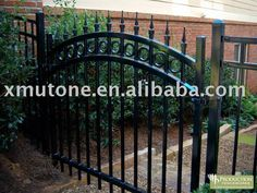 wrought iron arched courtyard gate $10~$1000