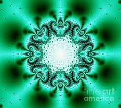 This green and black fractal kaleidoscope was created by Tracey Lee Everington of Tracey Lee Art Designs using fractal software. Fractal Art, Fractals, Fine Art America, Digital Art, Tapestry, Wall Art, Art Designs, Green
