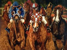 Horse Portraits, Horse-Race Pantings, Oil Equine Art Portraits, Equestrian Sports Portaits, Thoroughbred Racing Paintings by commission - Portrait Artist Rick Timmons Painted Horses, Horse Pictures, Pictures To Paint, Horse Racing Bet, Horse Wallpaper, Horse Portrait, Oil Portrait, Sport Of Kings, Thoroughbred Horse