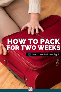 Learn how to efficiently pack for a 2 week vacation in just one suitcase! These … Learn how to efficiently pack for a 2 week vacation in just one suitcase! These tips will help you pack lite for traveling! Suitcase Packing Tips, Packing Tips For Vacation, One Suitcase, Cruise Tips, Travel Packing, Travel Tips, Travel Hacks, How To Pack Suitcase, Quick Travel