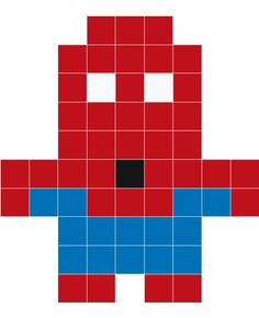 Stickaz - Spiderman pixel art Plus Easy Perler Bead Patterns, Melty Bead Patterns, Diy Perler Beads, Perler Bead Art, Beading Patterns, Pixel Art Marvel, Spiderman Pixel Art, Pixel Art Super Heros, Melty Bead Designs