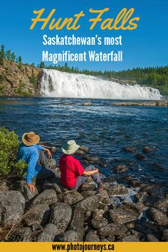 Hunt Falls is the largest and most beautiful waterfall in Saskatchewan, Canada. Here's tips on how you can visit this pristine area in northern Saskatchewan, on the Grease River, north of Stony Rapids. Places To Travel, Places To See, Voyage Canada, Alberta Travel, Vancouver Travel, Waterfall Photo, Saskatchewan Canada, Canadian Travel, Visit Canada