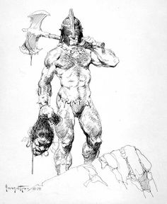 Cap'n's Comics: Some Blacknwhite Frazetta