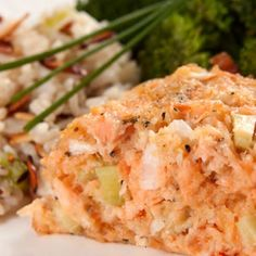 Instead of the traditional ground beef and ketchup, this tasty loaf recipe uses salmon and a creamy mustard sauce for a lighter, more sophisticated version of the old family favorite. Fish Dishes, Seafood Dishes, Fish And Seafood, Seafood Recipes, Shellfish Recipes, Canned Salmon Recipes, Loaf Recipes, Cooking Recipes, Keto Recipes