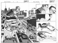 Amazing Spider-man #26 DPS pgs 2 & 3 Comic Art - John Romita Jr (Penciller) ,  Scott Hanna (Inker)