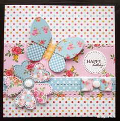 Paper Artistry Kitsch – a sketch for March Homemade Birthday Cards, Homemade Cards, Butterfly Cards, Flower Cards, Craftwork Cards, Making Greeting Cards, Fancy Fold Cards, Card Sketches, Card Tags