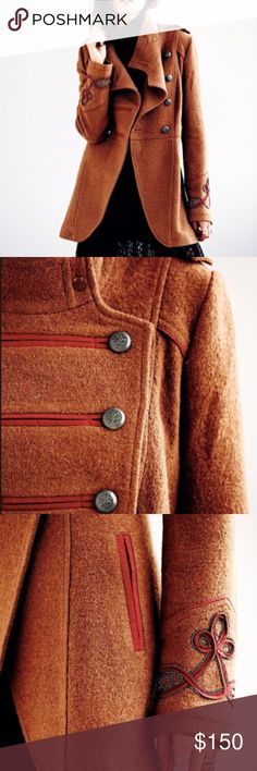 ISO Free People Military Peacoat! will pay a lot!! Willing to pay a pretty reasonable price for this coat! Dying for it, but sold out before I could get my hands on it. Will negotiate price with seller, will buy off you! Or comment what you're willing to sell for! Brown and red peacoat, a medium or size 4 or 6! Please help me out! Free People Jackets & Coats