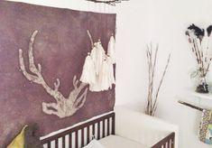 diy wax resist dip dyed wall hangings