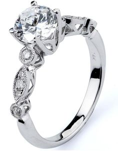 0.20 ctw Prong Setting G SI2 Round Brilliant Dimond 14k White Gold Semi Mount Engagement Ring
