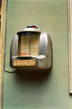 From Los Alamos Folio 5, Memphis, ca 1971-1974 [jukebox on dusty green wall] © William Eggleston / Courtesy Wilson Centre for Photography