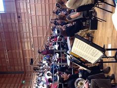 Soloist and alumnus Piran Legg rehearses 'Carmina Burana' with the Chorus and Orchestra on Saturday morning, ahead of the first Gala concert.