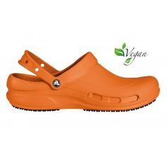 afaf8c5a5800 Crocs Bistro orange slip resistant clogs are the perfect Mario Batali chef  clog. Breathable material makes these vegan slip resistant shoes the  perfect ...